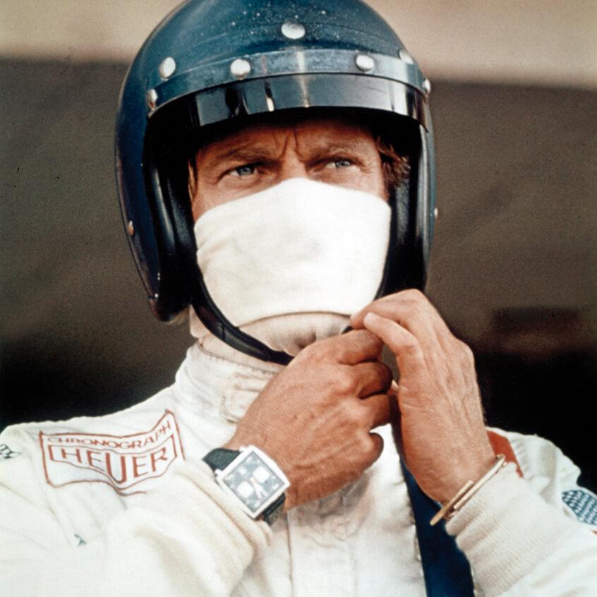 "Steve McQueen in legedary movie ""Le Mans"""