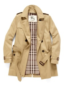 Burberry cotton blend trench coat, short length