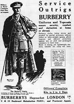 Burberry trench coat ad, around 1910's