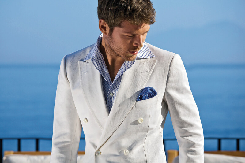 Men's style, double breasted jacket