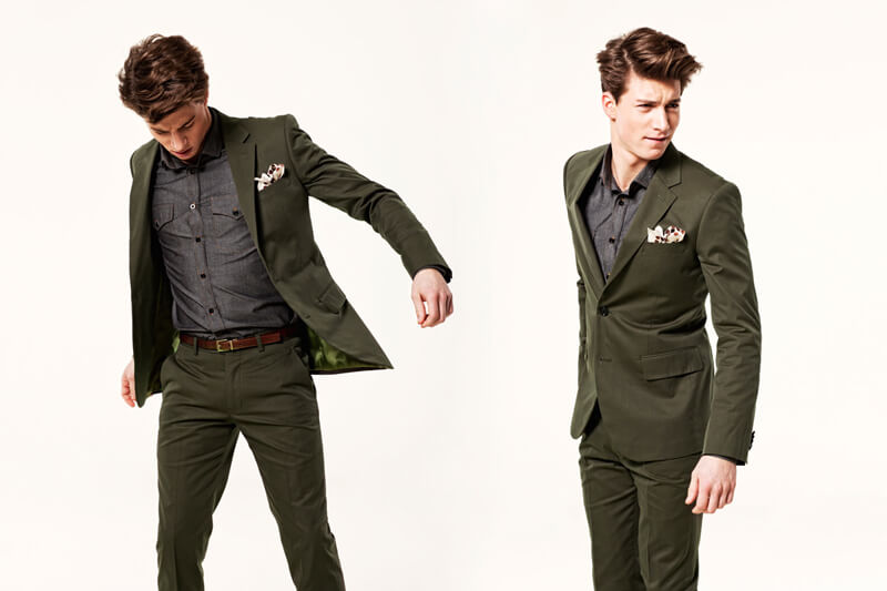 Men's style - green suit
