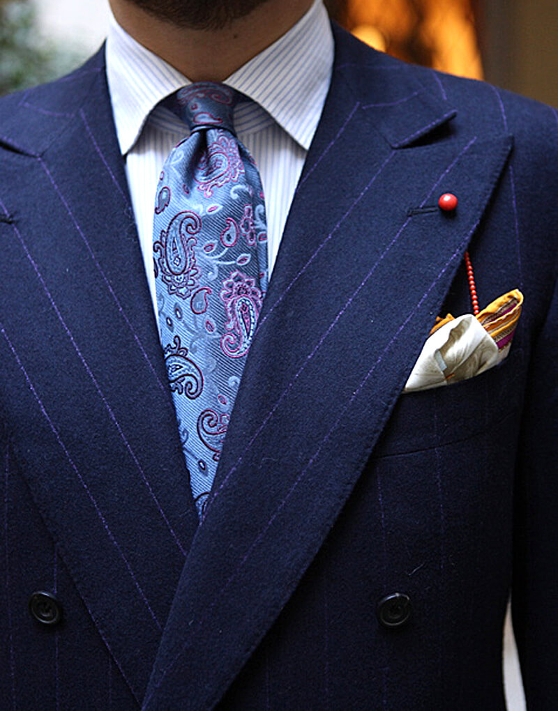 Mixing suit patterns Blue suit shirt tie combinations