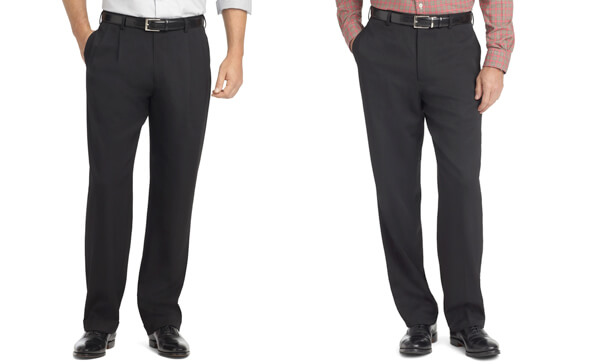 what are pleated and flat front pants