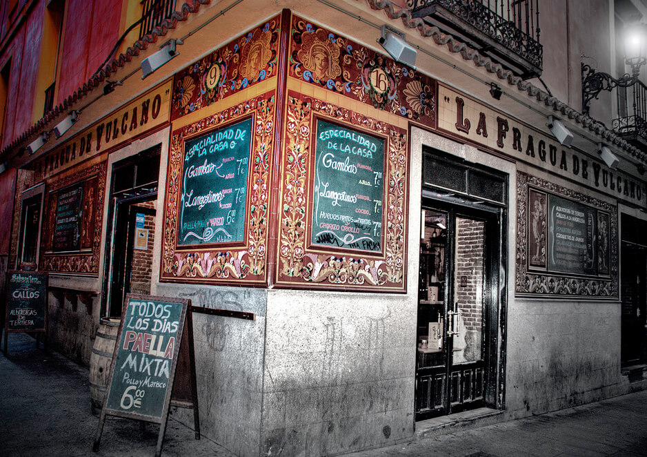 Madrid Tapas Guide, Taberna La Fragua de Volcano