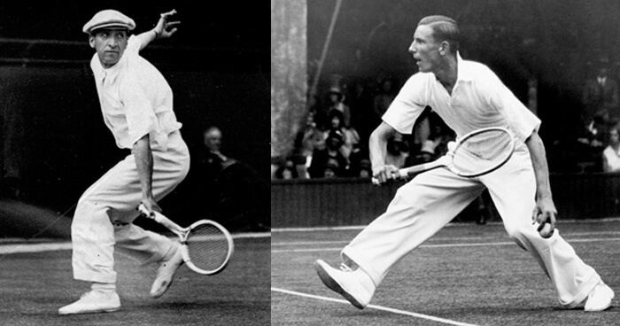 Jean Rene Lacoste and Fred Perry