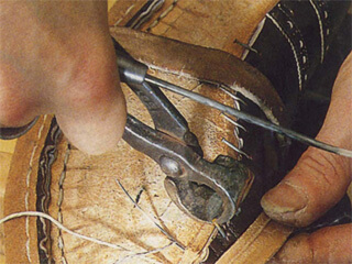 Shoemakers use Goodyear Welt construction method for durability and possible resoling.