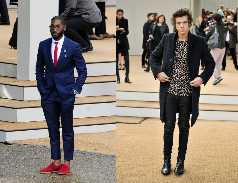 Tinie Tempah VS Harry Styles @ Burberry Prorsum