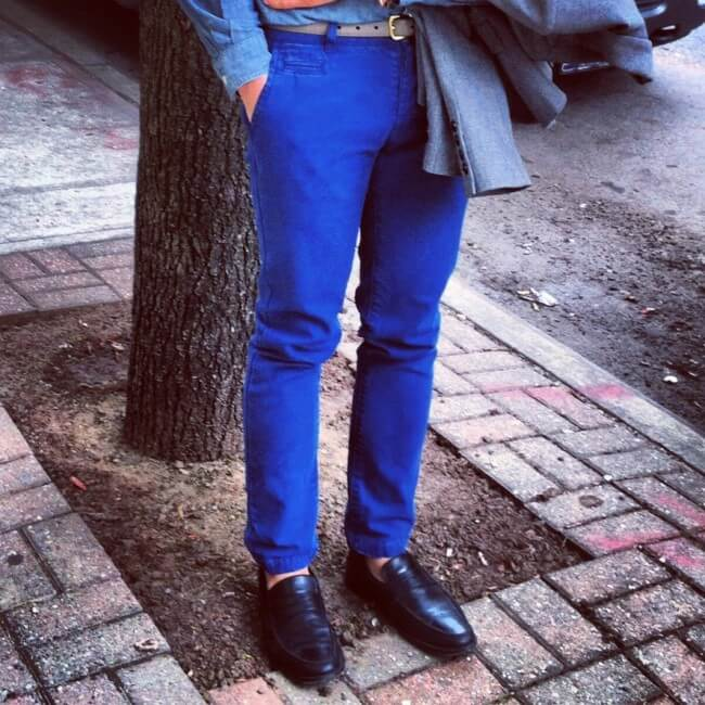 Bright Blue Pants Men