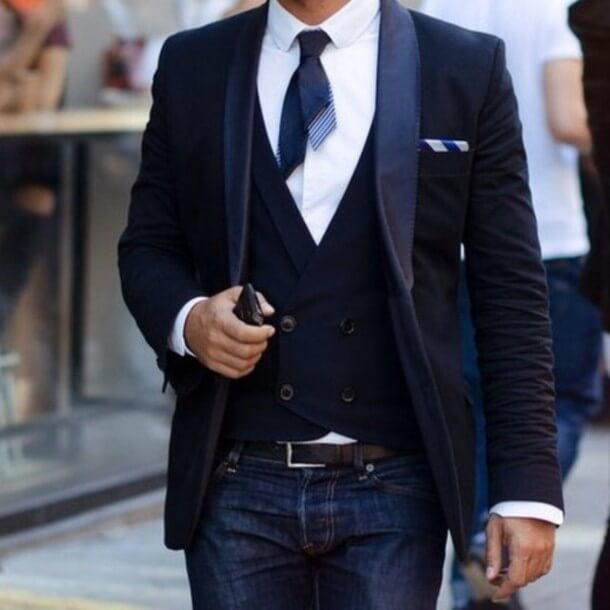 Stylish Blue  Waist Coat Men