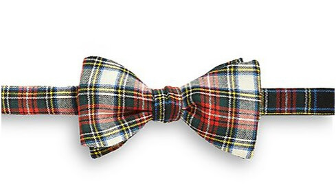Eton of Sweden plaid bow tie