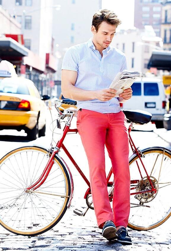 Bright summer pants for men