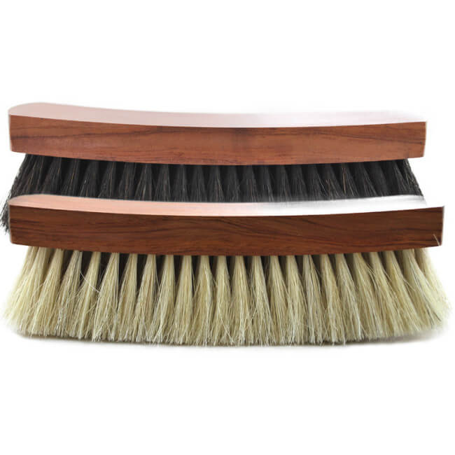Horse-hair shoe brushes