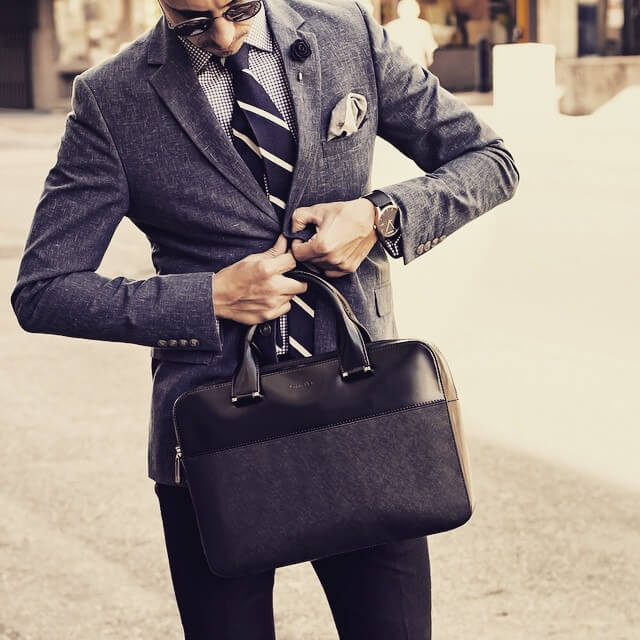 formal war + sweet leather briefcase