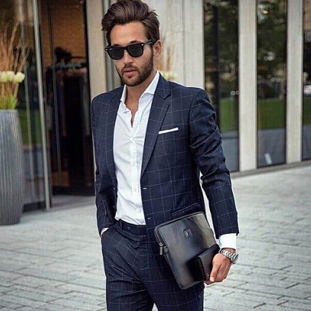 suit & navy document holder