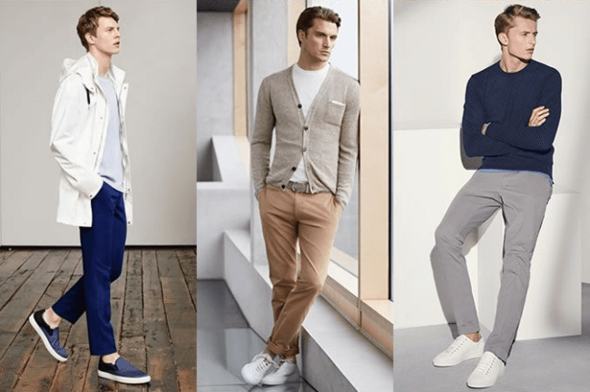 pair chinos with any slip on