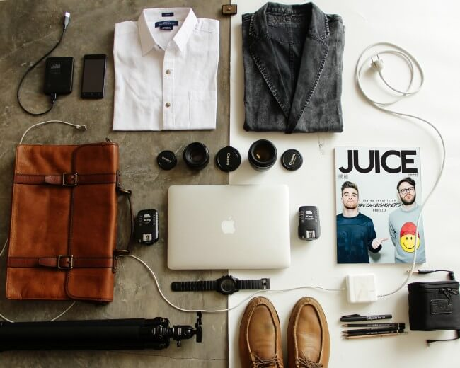 business trip accessories for men