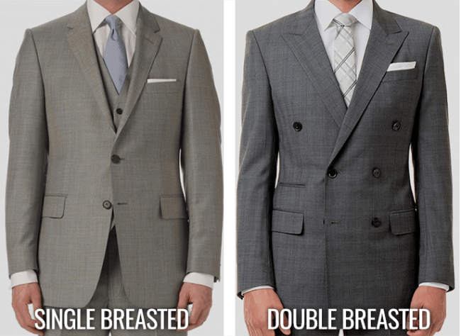 comparison of single breasted and double breasted suit