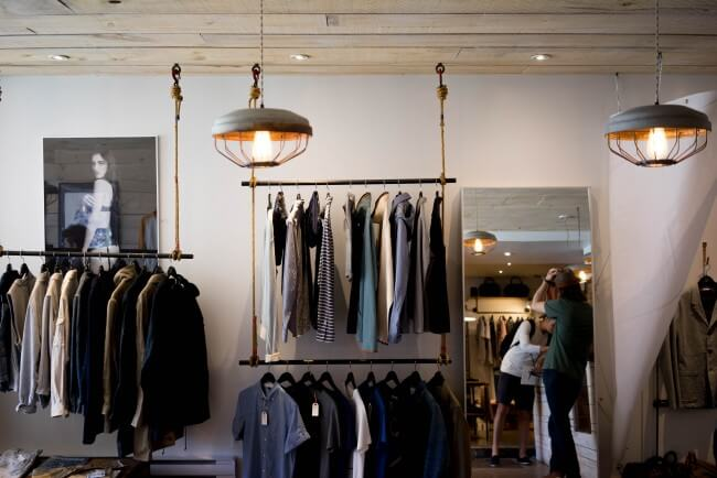 interior of a clothing retail store