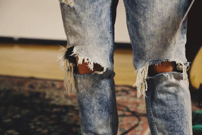 ripped distressed jeans men