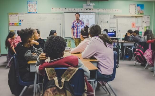 teaching in a class