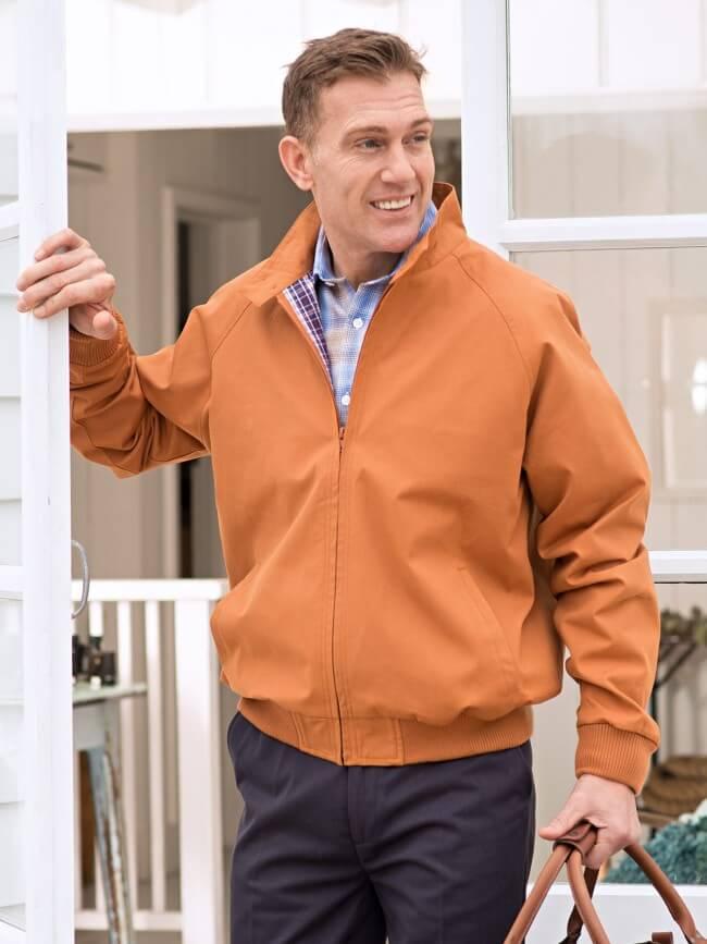 tan harrington jacket from peter christian
