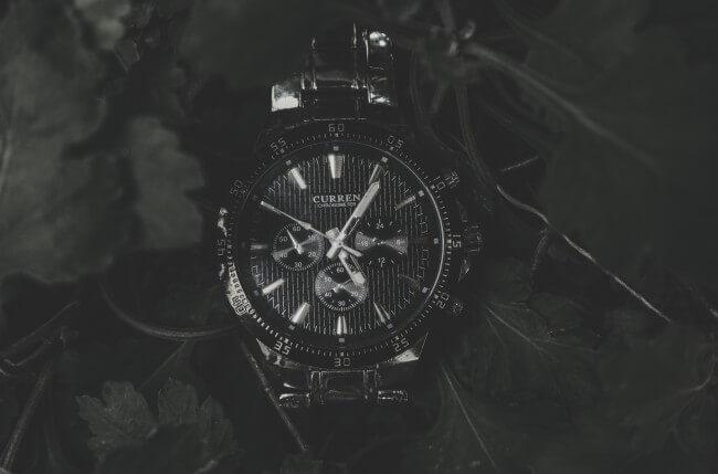black watch on display