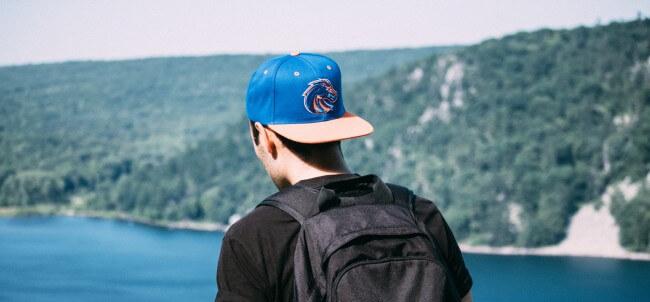 man wearing cap backwards