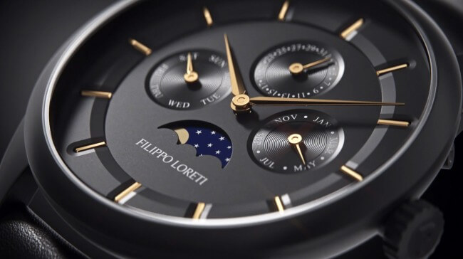 Filippo Loreti watch closeup