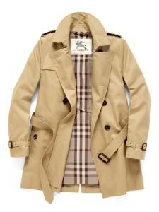 Burberry cotton blend trench coat, short length