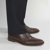 How to tailor off the rack suit: choosing pants length