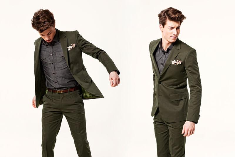 Men's style - green suit