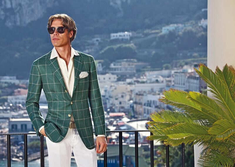 Men's style - two button windowpane jacket