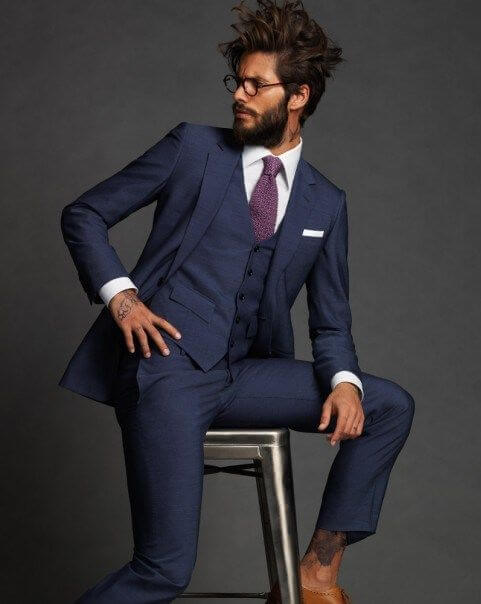 mens wardrobe blue suit