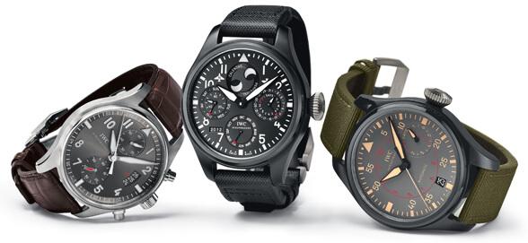 IWC Schaffhausen Spitfire Chronograph, Big Pilot's Watch Perpetual Calendar TOP GUN and Big Pilot's Watch TOP GUN Miramar