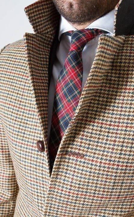 Overcoat and tie