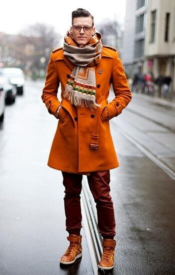 Orange coat for autumn/winter 2014