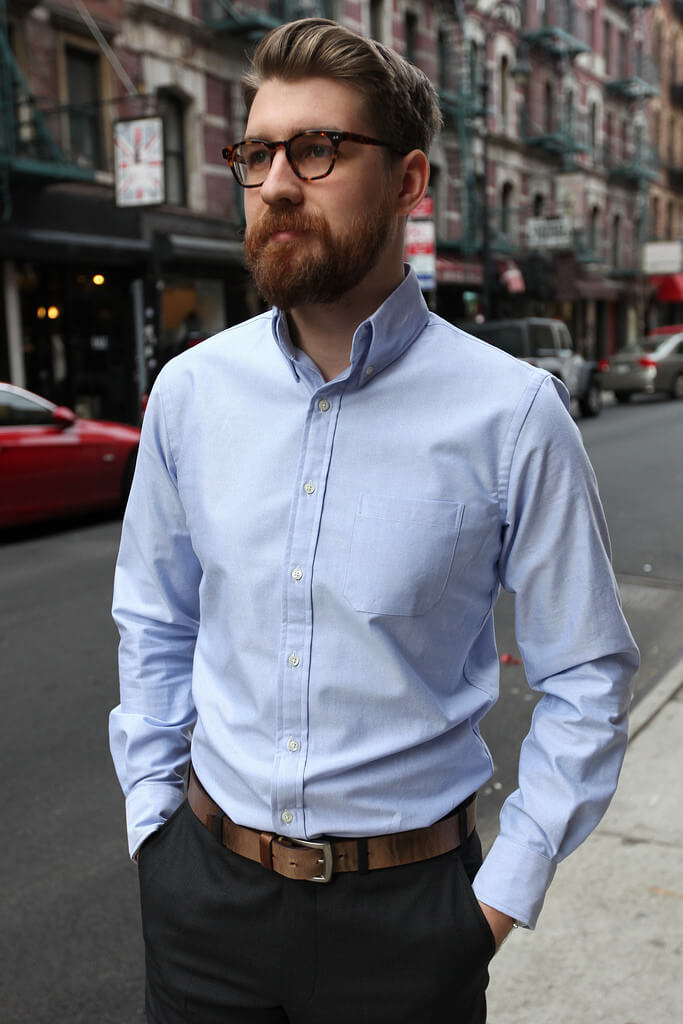 The blue oxford cloth button down shirt - so versatile!