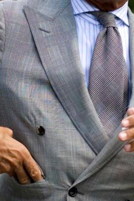grey tie with suit