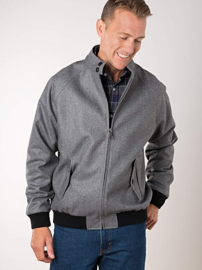 cashmere blend harrington jacket from Peter Christian